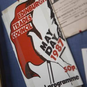 Edinburgh Trades Council Poster at the Peoples Story Museum Edinburgh