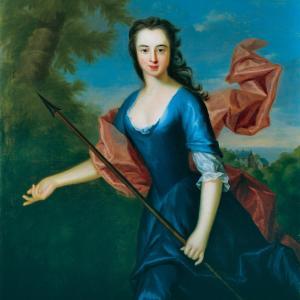 Alan Ramsay, Katherine Hall of Dunglass, c.1736, oil on canvas