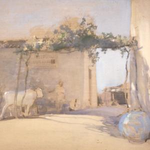 E.A. Walton, Farmyard near Florence, unknown date. City Art Centre, Museums & Galleries Edinburgh