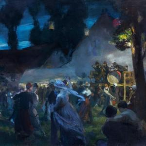 Charles H. Mackie, La Danse du Village, c.1918. The Royal Scottish Academy of Art and Architecture