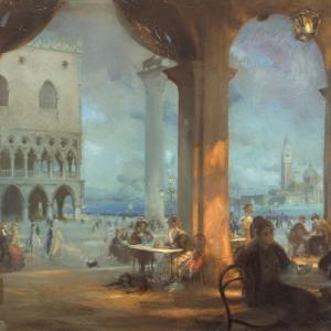 Charles H. Mackie, La Piazzetta, 1909. City Art Centre, Museums & Galleries Edinburgh