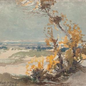 Charles H. Mackie, Picardy Poplars, 1902. Courtesy of Perth Museum & Art Gallery
