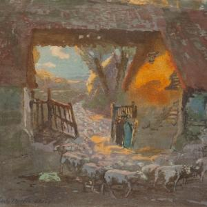 Charles H. Mackie, The Return of the Flock, c.1908. Courtesy of Perth Museum & Art Gallery