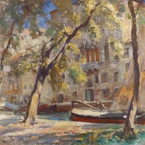 Charles H. Mackie, Untitled (Venetian Canal Scene), 1910. Private Collection