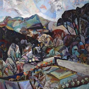 Edwin G. Lucas, Pentland Hills from Kingsknowe (Winter 1947), 1947. City Art Centre, Museums & Galleries Edinburgh. © the artist's estate. (Photo: City Art Centre)