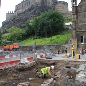 Excavation of Flodden Wall, Grassmarket 2008