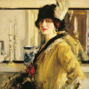 F.C.B. Cadell, The Black Hat, 1914, oil on canvas