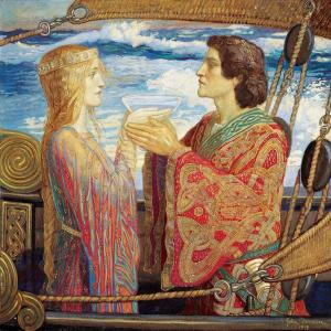 John Duncan, Tristan and Isolde, 1912, tempera on canvas