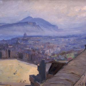 John Lavery, View of Edinburgh from the Castle, 1917, oil on canvas
