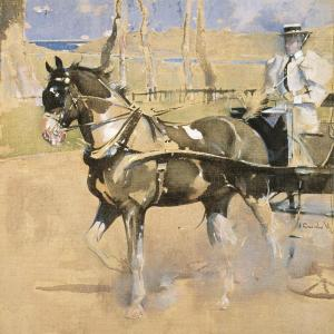 Joseph Crawhall, Piebald Driving, c.1898, gouache on linen