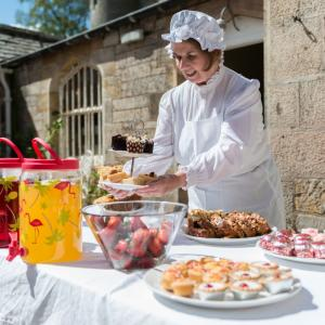 Food at Lauriston Castle party