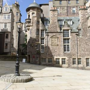 Makars Court outside the Writers' Museum Edinburgh