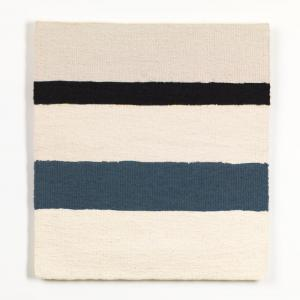 Sara Brennan, 'Black Linen Horizontal with Old Grey Blue', 2019. © the artist