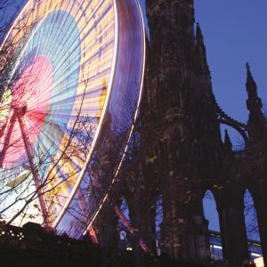 Scott Monument with wheel