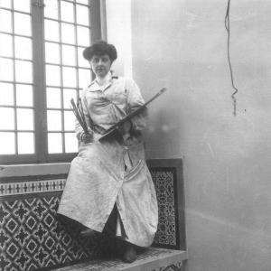 o Unknown photographer, Mary Cameron with painting materials, Spain, c.1909. Private Collection.