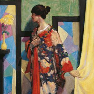 William McCance, Kimono Study, 1919, oil on canvas