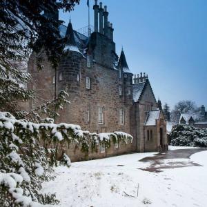 Snowy Lauriston Castle